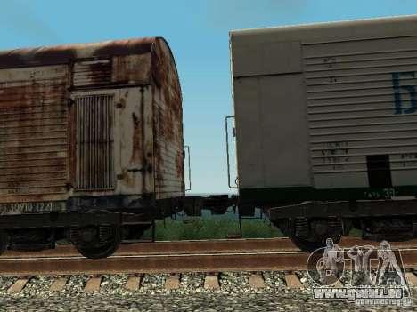 Refrežiratornyj wagon Dessau no 4 Rusty pour GTA San Andreas vue arrière