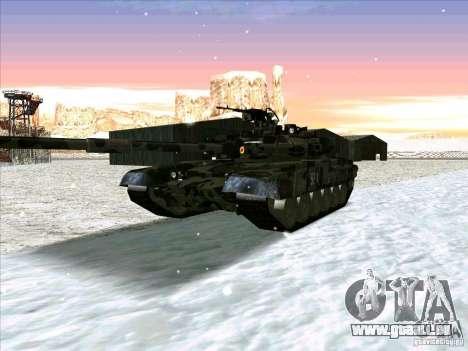 T-90 de Battlefield 3 pour GTA San Andreas laissé vue