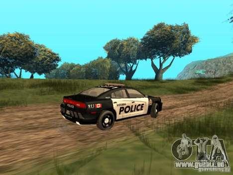 Dodge Charger Canadian Victoria Police 2011 für GTA San Andreas Rückansicht