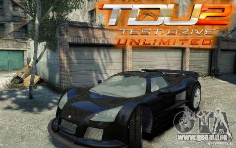 Gumpert Apollo Sport pour GTA 4 Vue arrière de la gauche
