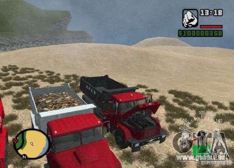 Camion KrAZ 65055 pour GTA San Andreas vue de côté