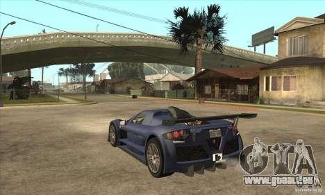 Gumpert Apollo Sport für GTA San Andreas zurück linke Ansicht