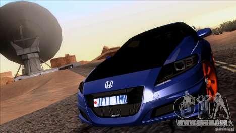 Honda CR-Z Mugen 2011 V1.0 pour GTA San Andreas vue intérieure