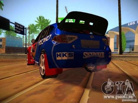 Subaru Impreza WRX STi N14 Rallycross pour GTA San Andreas vue de côté