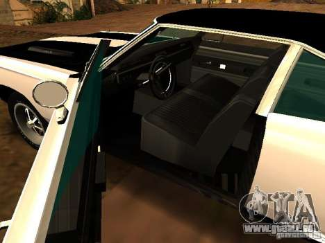 Plymouth GTX 1969 für GTA San Andreas Rückansicht