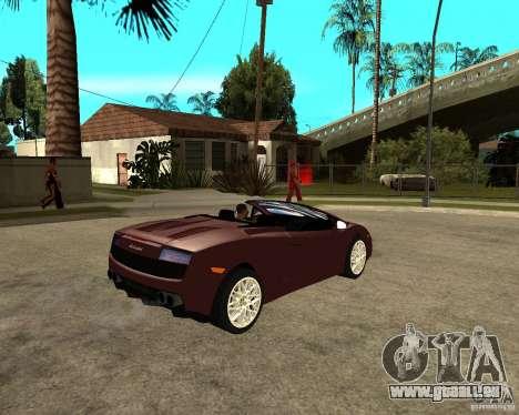 Lamborghini Gallardo LP560-4 Spyder pour GTA San Andreas vue de droite