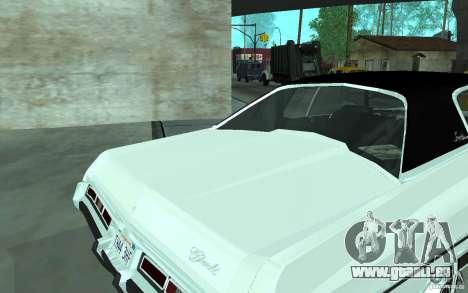 Chevrolet Impala 1972 für GTA San Andreas zurück linke Ansicht