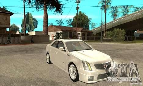 Cadillac CTS-V 2009 v2.0 für GTA San Andreas Rückansicht