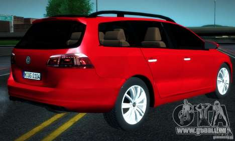 Volkswagen Passat B7 2012 pour GTA San Andreas laissé vue