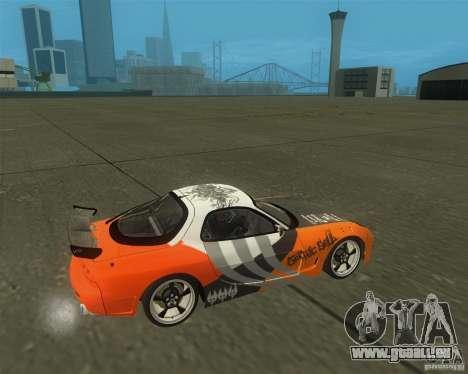 Mazda RX-7 weapon war für GTA San Andreas rechten Ansicht