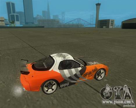 Mazda RX-7 weapon war pour GTA San Andreas vue de droite