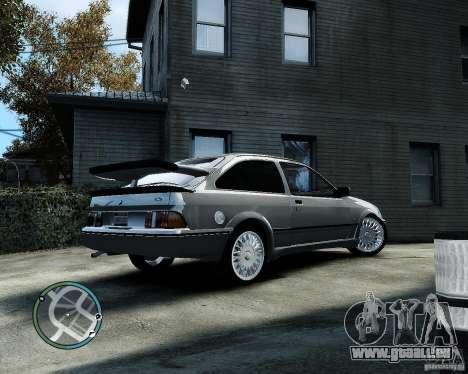 Ford Sierra RS500 Cosworth v1.0 für GTA 4 hinten links Ansicht