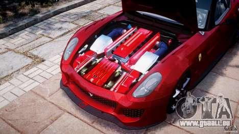 Ferrari 599 XX pour GTA 4 est une vue de l'intérieur