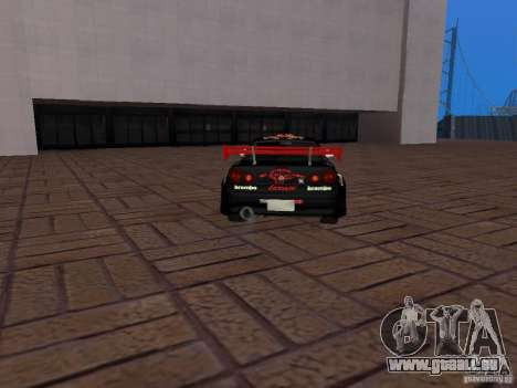 Nissan Skyline GT-R R34 Tunable für GTA San Andreas Innenansicht