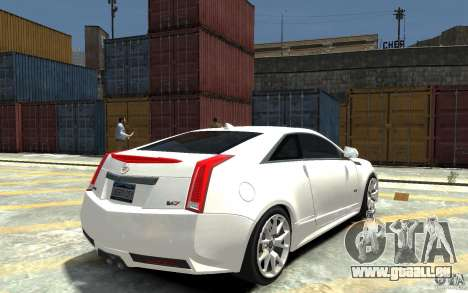 Cadillac CTS-V Coupe 2011 v.2.0 pour GTA 4 est un droit