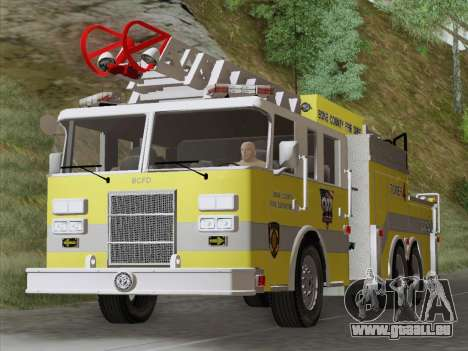 Pierce Arrow XT BCFD Tower Ladder 4 für GTA San Andreas linke Ansicht