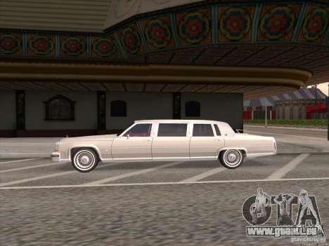 Cadillac Fleetwood Limousine 1985 pour GTA San Andreas laissé vue