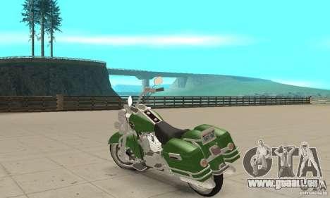 Harley Davidson Road King pour GTA San Andreas sur la vue arrière gauche