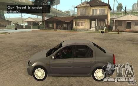 Dacia Logan Prestige 1.6 16v pour GTA San Andreas laissé vue