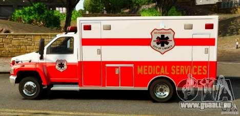 GMC C5500 Topkick Ambulance pour GTA 4 est une gauche