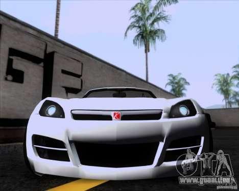 Saturn Sky Roadster pour GTA San Andreas laissé vue