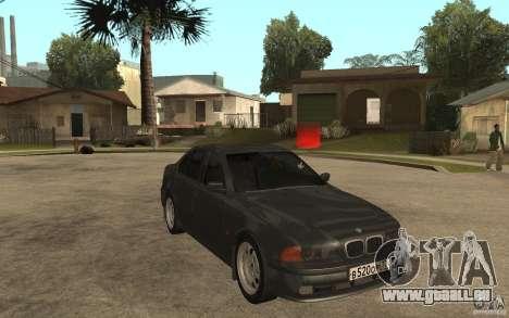 BMW 523i E39 1997 pour GTA San Andreas vue arrière