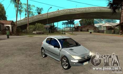 Peugeot 206 pour GTA San Andreas vue arrière