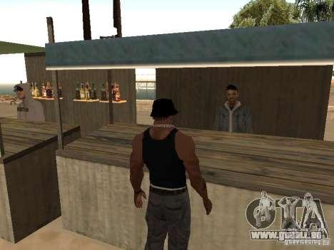 Marché sur la plage pour GTA San Andreas troisième écran