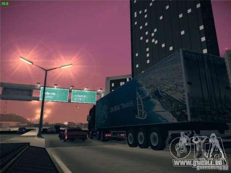Remorque pour Scania R620 Dubaï Trans pour GTA San Andreas vue de côté