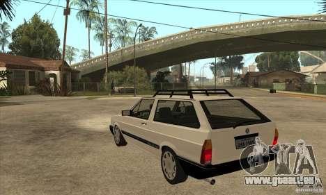 VW Parati GLS 1989 für GTA San Andreas zurück linke Ansicht