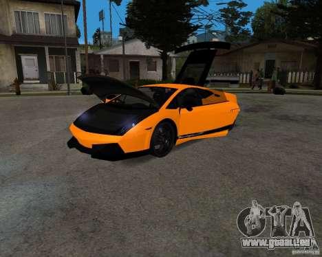 Lamborghini Gallardo LP570 Superleggera pour GTA San Andreas sur la vue arrière gauche