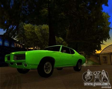 Pontiac GTO 1969 pour GTA San Andreas vue de dessous
