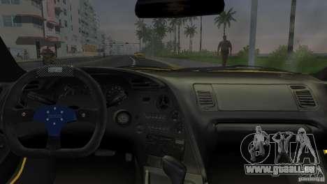 Toyota Supra JZA80 C-West für GTA Vice City Rückansicht