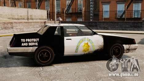 Police à colorier pour un Sabre rouillé pour GTA 4 est une gauche