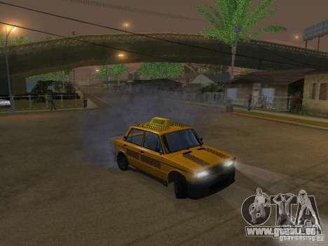 VAZ 2106 tuning Taxi pour GTA San Andreas vue arrière