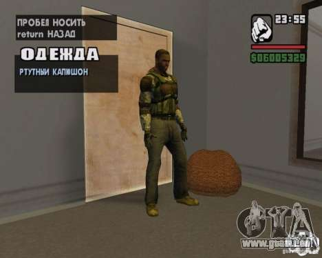 Vêtements d'un harceleur pour GTA San Andreas quatrième écran