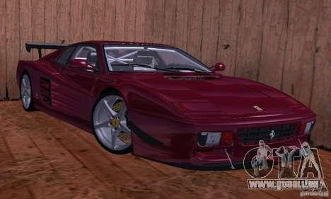 Ferrari 512 TR pour GTA San Andreas sur la vue arrière gauche