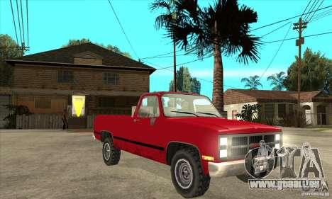 GMC Sierra 2500 pour GTA San Andreas vue arrière
