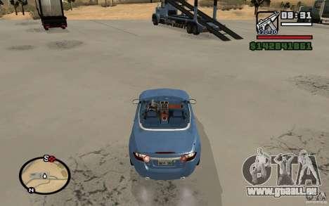 Jaguar XK Convertable pour GTA San Andreas sur la vue arrière gauche