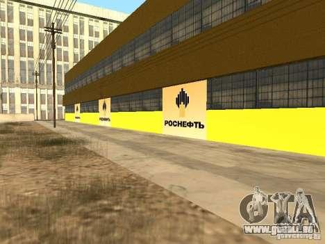 Nouvelles stations d'essence de textures pour GTA San Andreas troisième écran