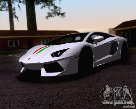 Lamborghini Aventador LP700-4 2011 für GTA San Andreas obere Ansicht