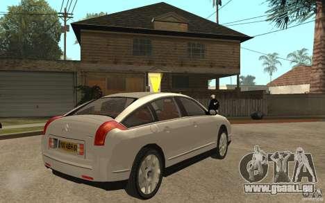Citroen C6 für GTA San Andreas rechten Ansicht