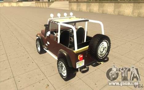 Jeep Wrangler 1986(2) pour GTA San Andreas vue de droite