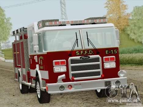 Pierce Pumpers. San Francisco Fire Departament für GTA San Andreas Unteransicht