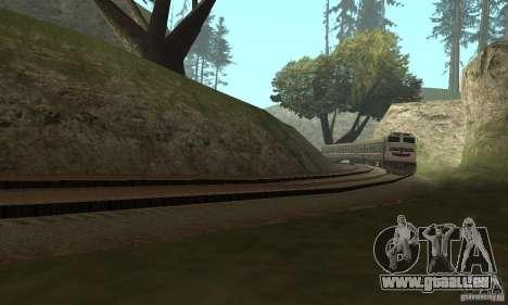 La voiture des chemins de fer russes 2 pour GTA San Andreas sur la vue arrière gauche