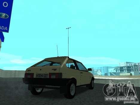 VAZ 2108 CR c. 2 pour GTA San Andreas sur la vue arrière gauche