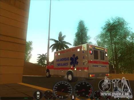 Ford E-350 Ambulance 2 pour GTA San Andreas laissé vue