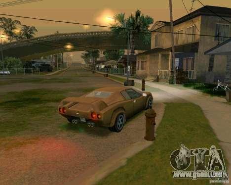 Infernus from Vice City pour GTA San Andreas sur la vue arrière gauche