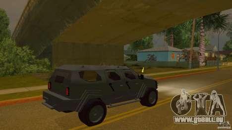Gurkha LAPV für GTA San Andreas linke Ansicht