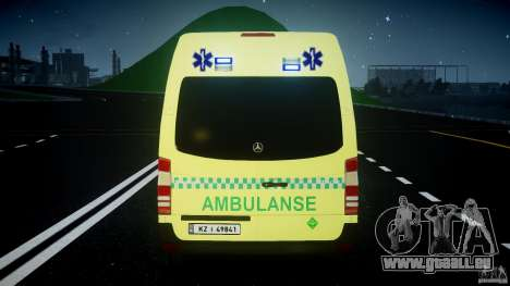 Mercedes-Benz Sprinter PK731 Ambulance [ELS] pour GTA 4 roues